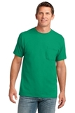 5.4-oz 100 Cotton Pocket T-shirt Kelly Thumbnail