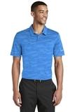 Nike Golf Dri-FIT Waves Jacquard Polo Blue Thumbnail
