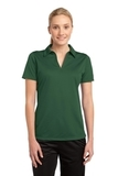 Women's Active Textured Polo Forest Green Thumbnail