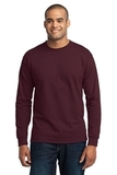 Long Sleeve 50/50 Cotton / Poly T-shirt Athletic Maroon Thumbnail