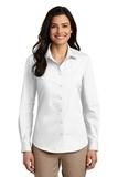 Women's Long Sleeve Carefree Poplin Shirt White Thumbnail