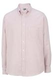 Men's Dress Button Down Oxford LS Burgundy Stripe Thumbnail