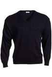 Men's 100 Acrylic V-neck Sweater Navy Thumbnail