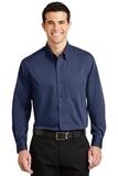 Tonal Pattern Easy Care Shirt Blue Thumbnail