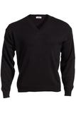 Men's 100 Acrylic V-neck Sweater Black Thumbnail