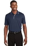 Dri-mesh Polo Shirt With Tipped Collar And Piping Navy with White Thumbnail