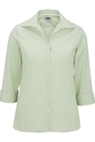 Women's Easy Care Poplin Shirt 3/4 Sleeve Cucumber Thumbnail