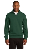 1/4-zip Sweatshirt Forest Green Thumbnail