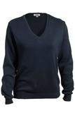 Women's Edwards V-neck Cotton Sweater Navy Thumbnail