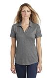 Women's Tri-Blend Wicking Polo Dark Grey Heather Thumbnail