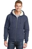 Heavyweight SherpaLined Hooded Fleece Jacket Navy Thumbnail