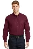 Long Sleeve Superpro Twill Shirt Burgundy Thumbnail