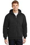 Heavyweight Full-zip Hooded Sweatshirt With Thermal Lining Black Thumbnail
