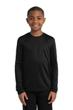 Youth Long Sleeve Competitor Tee Black Thumbnail