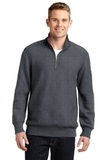 Sport-tek Super Heavyweight 1/4-zip Pullover Sweatshirt Graphite Heather Thumbnail