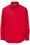 Men's Easy Care Poplin Shirt LS Red Thumbnail