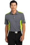 Nike Golf Dri-fit Engineered Mesh Polo Dark Grey with Volt Thumbnail