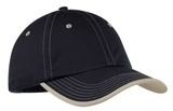 Vintage Washed Contrast Stitch Cap Navy with Light Sand Thumbnail