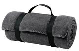 Value Fleece Blanket With Strap Midnight Heather Thumbnail