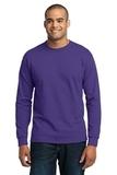 Long Sleeve 50/50 Cotton / Poly T-shirt Purple Thumbnail