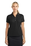 Women's Nike Golf Shirt Dri-fit Classic Black Thumbnail