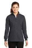 Women's 1/4-zip Sweatshirt Graphite Heather Thumbnail
