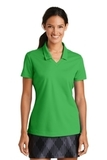 Women's Nike Golf Shirt Dri-FIT Micro Pique Polo Shirt Lucky Green Thumbnail