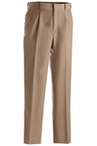 Men's 70/30 Poly / Wool Pleated Pant Taupe Thumbnail