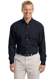 Tall Long Sleeve Twill Shirt Classic Navy Thumbnail