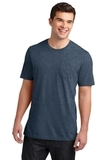 Young Men's Very Important Tee With Pocket Heathered Navy Thumbnail