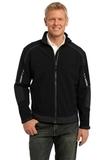 Embark Soft Shell Jacket Black with Deep Grey Thumbnail