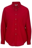 Women's Poplin Shirt LS Red Thumbnail