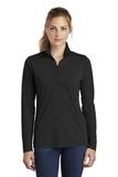 Women's Tri-Blend Wicking 1/4-Zip Pullover Black Triad Solid Thumbnail