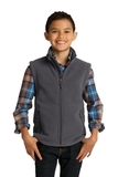 Youth Value Fleece Vest Iron Grey Thumbnail