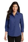 Women's 3/4-sleeve Easy Care Shirt Mediterranean Blue Thumbnail