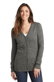 Women's Marled Cardigan Sweater Warm Grey Marl Thumbnail