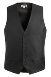 Men's Diamond Brocade Vest Black Thumbnail