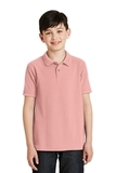 Youth Silk Touch Polo Shirt Light Pink Thumbnail