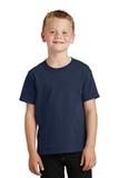 Youth 5.5-oz 100 Cotton T-shirt Navy Thumbnail