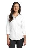 Women's Red House 3/4-Sleeve Nailhead Non-Iron Shirt White Thumbnail