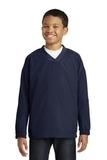 Youth V-neck Raglan Wind Shirt True Navy Thumbnail