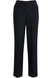 Redwood & Ross Signature Women's Wool Blend Flat Front Dress Pant Navy Pinstripe Thumbnail