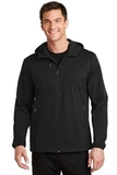 Active Hooded Soft Shell Jacket Deep Black Thumbnail