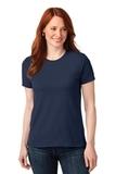 Screenprinted Women's 50/50 Cotton / Poly T-shirt Navy Thumbnail