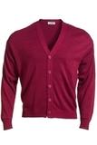 Men's No-pocket Cardigan Burgundy Thumbnail