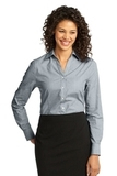 Women's Crosshatch Easy Care Shirt Navy Frost Thumbnail