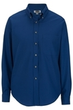 Women's Poplin Shirt LS Royal Thumbnail