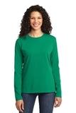 Women's Long Sleeve 5.4-oz 100 Cotton T-shirt Kelly Thumbnail