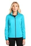 Women's Active Soft Shell Jacket Light Cyan Blue Thumbnail