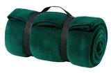 Value Fleece Blanket With Strap Dark Green Thumbnail